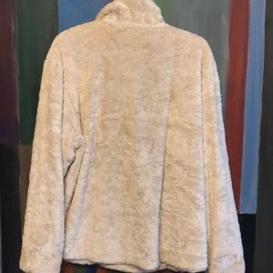 Escada Sport Jackets & Coats - Escada Sport Faux Fur Cream Color Pullover Jacket